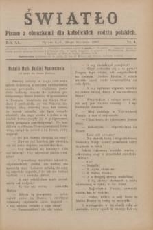 Światło : pismo z obrazkami dla katolickich rodzin polskich. R.11, nr 4 (28 stycznia 1897)