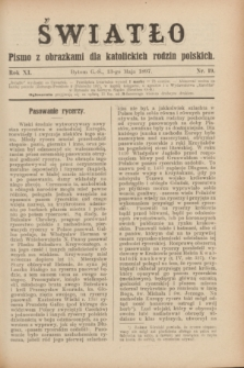 Światło : pismo z obrazkami dla katolickich rodzin polskich. R.11, nr 19 (13 maja 1897)