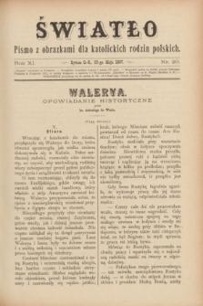Światło : pismo z obrazkami dla katolickich rodzin polskich. R.11, nr 20 (20 maja 1897)