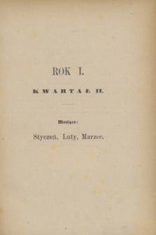 Przegląd Miesięczny. R.1, Spis rzeczy zawartych w tomie II (styczeń, luty, marzec 1875)
