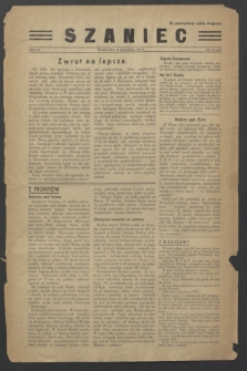 Szaniec : dwutygodnik poświęcony sprawom Polski w niewoli. R.6, nr 49 (22 września 1944) = nr 155