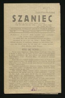 Szaniec : dwutygodnik poświęcony sprawom Polski w niewoli. R.7, nr 1 (1 stycznia 1945) = nr 161