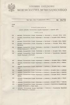 Dziennik Urzędowy Województwa Nowosądeckiego. 1990, nr 28 (19 października)