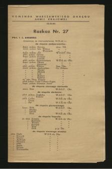 Rozkaz nr 27 (12 września 1944)