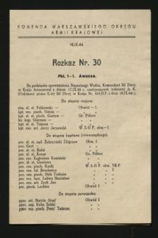 Rozkaz nr 30 (18 września 1944)