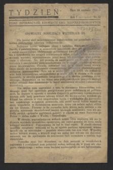 Tydzień : pismo informacyjne Konwentu Org. Niepodległościowych. R.1, nr 12 (10 czerwca 1943)