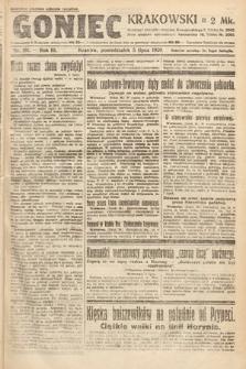 Goniec Krakowski. 1920, nr181