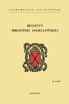 The Jagiellonian Library Bulletin. Vol. 67, 2017 [entirety]