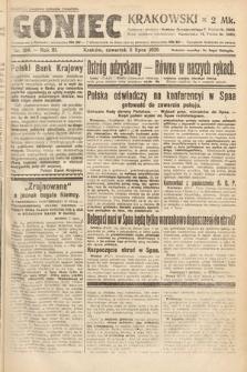 Goniec Krakowski. 1920, nr184