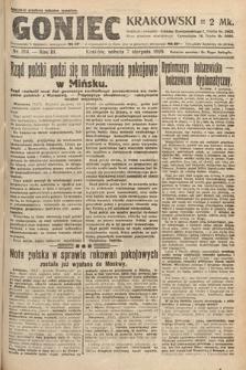 Goniec Krakowski. 1920, nr214