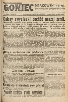 Goniec Krakowski. 1920, nr228