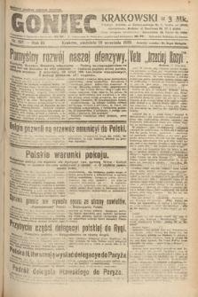 Goniec Krakowski. 1920, nr257