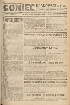 Goniec Krakowski. 1920, nr300