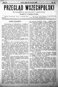 Przegląd Wszechpolski : dwutygodnik polityczny i społeczny. 1896, nr16