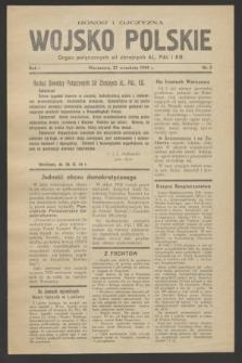 Wojsko Polskie : organ połączonych sił zbrojnych AL, PAL i KB. R.1, nr 5 (27 września 1944)