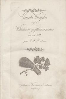 Gazeta Wieyska czyli Wiadomości gospodarczo-rolnicze na rok 1817 przez F. X. G. zebrane. 1817, Treść rzeczy w Gazecie Wieyskiey na rok 1817 umieszczonych