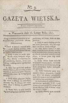 Gazeta Wieyska. 1817, Ner 9 (28 lutego)