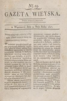 Gazeta Wieyska. 1817, Ner 19 (9 maja)