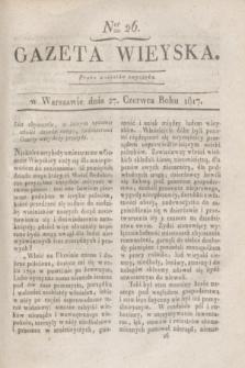 Gazeta Wieyska. 1817, Ner 26 (27 czerwca)