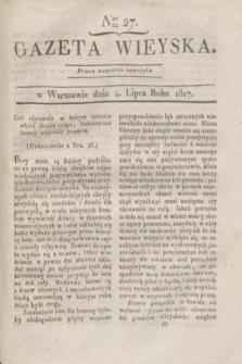 Gazeta Wieyska. 1817, Ner 27 (4 lipca)