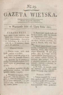 Gazeta Wieyska. 1817, Ner 29 (18 lipca)