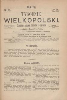Tygodnik Wielkopolski : czasopismo naukowe, literackie i artystyczne. R.4, nr 25 (20 czerwca 1874)