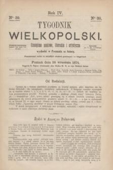 Tygodnik Wielkopolski : czasopismo naukowe, literackie i artystyczne. R.4, nr 39 (26 września 1874)