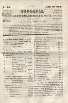 Tygodnik Rolniczo-Przemysłowy. R.7, Nro. 40 (30 września 1844)