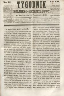 Tygodnik Rolniczo-Przemysłowy. R.12, nr 42 (20 października 1849)