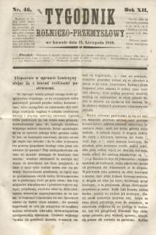 Tygodnik Rolniczo-Przemysłowy. R.12, nr 46 (17 listopada 1849)