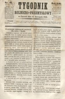 Tygodnik Rolniczo-Przemysłowy. R.12, nr 47 (24 listopada 1849)