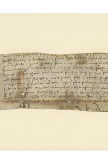 Fragment instrumentu notarialnego zawierającego mandat nieznanej osoby w sprawie ogłoszenia wyroku w nieznanej sprawie