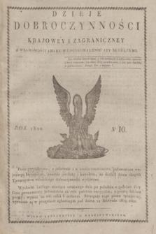 Dzieje Dobroczynności Krajowey i Zagraniczney z Wiadomościami ku Wydoskonaleniu jej Służącemi. [R.1], No 10 (październik 1820)
