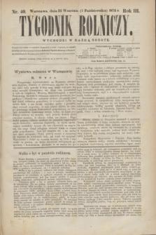 Tygodnik Rolniczy. R.3, nr 40 (3 października 1874)