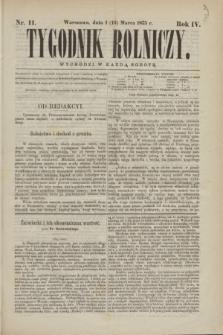 Tygodnik Rolniczy. R.4, nr 11 (13 marca 1875)