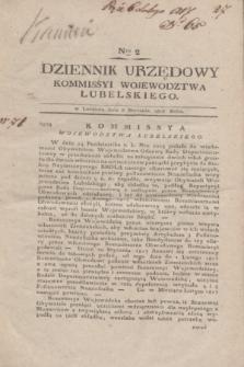 Dziennik Urzędowy Kommissyi Wojewodztwa Lubelskiego. 1817, Nro 2 (8 stycznia)