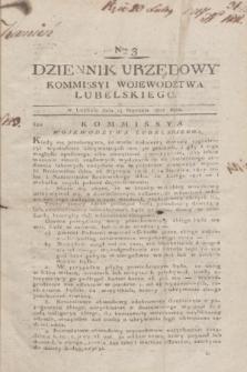 Dziennik Urzędowy Kommissyi Wojewodztwa Lubelskiego. 1817, Nro 3 (15 stycznia) + dod.