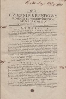 Dziennik Urzędowy Kommissyi Wojewodztwa Lubelskiego. 1817, Nro 4 (22 stycznia)