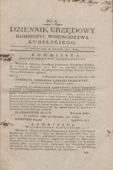 Dziennik Urzędowy Kommissyi Wojewodztwa Lubelskiego. 1817, Nro 5 (29 stycznia) + dod.