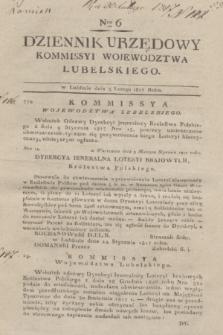 Dziennik Urzędowy Kommissyi Wojewodztwa Lubelskiego. 1817, Nro 6 (5 lutego) + dod.