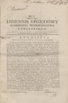 Dziennik Urzędowy Kommissyi Wojewodztwa Lubelskiego. 1817, Nro 7 (12 lutego) + dod.