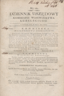 Dziennik Urzędowy Kommissyi Wojewodztwa Lubelskiego. 1817, Nro 12 (26 marca)