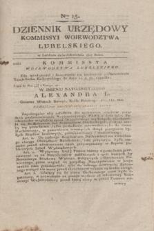 Dziennik Urzędowy Kommissyi Wojewodztwa Lubelskiego. 1817, Nro 15 (16 kwietnia) + dod.