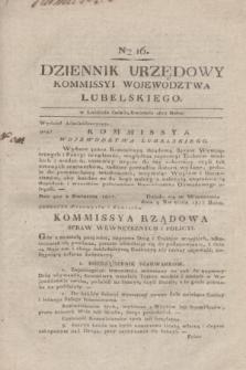 Dziennik Urzędowy Kommissyi Wojewodztwa Lubelskiego. 1817, Nro 16 (24 kwietnia) + dod.