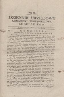 Dziennik Urzędowy Kommissyi Wojewodztwa Lubelskiego. 1817, Nro 17 (30 kwietnia)