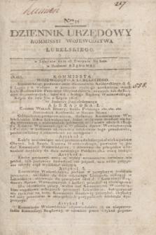 Dziennik Urzędowy Kommissyi Wojewodztwa Lubelskiego. 1817, Nro 31 (13 sierpnia) + dod.