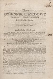 Dziennik Urzędowy Kommissyi Wojewodztwa Lubelskiego. 1817, Nro 37 (24 września) + dod.