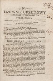 Dziennik Urzędowy Kommissyi Wojewodztwa Lubelskiego. 1817, Nro 39 (8 października)