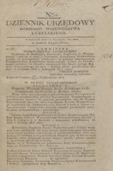 Dziennik Urzędowy Kommissyi Wojewodztwa Lubelskiego. 1817, Nro 44 (12 listopada)