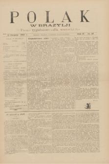 Polak w Brazylji : pismo tygodniowe dla wszystkich. R.4, nr 33 (14 sierpnia 1908) + dod.